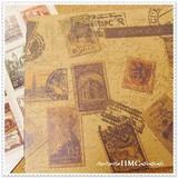 ヴィンテージ スタンプ 切手シールシートセット