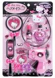 ハロ−キティ ピンク&ブラック ヘアメイクセット