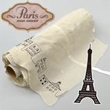 【カフェカーテン用ロール生地】パリの街並みを刺繍で表現したナチュラルな生地 エッフェル