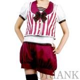 [BERUNIKA]アンティークボーイ風ストライプセットアップ【クラシカル/マーチング/舞台衣装】