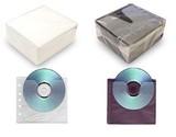 ヒット商品!不織布 両面 CD・DVDケース(100枚入)/白・黒
