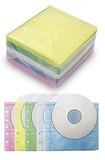 ヒット商品!カラー不織布 両面 CD・DVDケース(100枚入)/5色×各20枚