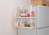 【引っ掛けるタイプの収納BOX♪】冷蔵庫サイドラック