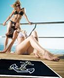 【直送可】【nautic 玄関マット】 Anchor 碇の刺繍がされた高級マリンマット