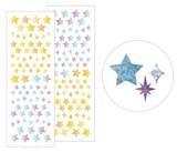 【どんどん使える嬉しいボリュームの2枚入りシール】星柄 (金銀)