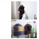 【SALE】【秋冬限定】[ニット帽]パッチワークハット 寒い日のお楽しみ