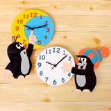 【クルテク】子供部屋に♪クルテク木製時計