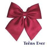 Teens Ever 無地リボン エンジ(サテン)