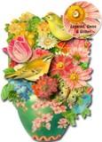 PUNCH STUDIO  グリーティングカード スモールサイズ <鳥×フラワー>