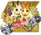 PUNCH STUDIO  グリーティングカード スモールサイズ <ウサギ>