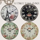 【直送可】【送料無料】【アンティーク】【時計】【4種類】アンティークウォールクロック ローズ