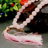 10mm《天然石》ローズクォーツ(紅水晶)数珠 女性用数珠