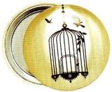 LES INVASIONS EPHEMERES ポケットミラー 鳥かご