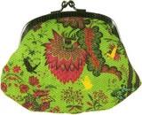 LES INVASIONS EPHEMERES がま口 財布 (中)  花と蝶と鳥