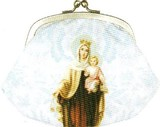 LES INVASIONS EPHEMERES がま口 財布 (中) マリアとイエスキリスト