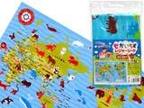 【お空の下で楽しく学ぼう】世界地図レジャーシート
