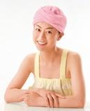 マイクロファイバーヘアドライキャップ ピンク・ブルー2色組