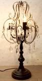 クリスタル風豪華装飾◆シャンデリア風【-卓上ランプ-3灯-】◆-※-◆ブラウンのみ在庫有り◆-※-◆