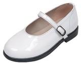キッズフォーマルシューズ 甲ベルト MC-2001W ホワイト 子供靴