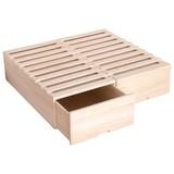 【直送可】桐製すのこ押入れボックス2個組【収納家具】