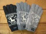 かわいい鹿柄シンサレート入り手袋 10双アソート婦人 &カラー単色アソート