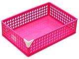 【小物整理に便利なバスケットです】キュートワイド ピンク