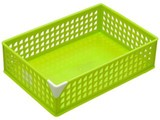 【小物整理に便利なバスケットです】キュートワイド グリーン