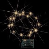 クリスマス POP飾りつけに LEDミニストリングライト(電池式) 電球色<装飾・店舗・電池・LED・節電>