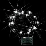 クリスマス POP飾りつけに!LEDミニストリングライト(電池式) 白<装飾・店舗・電池・LED・節電>