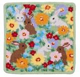 Artemogol Handkerchief Flower Rabbit Towel Handkerchief