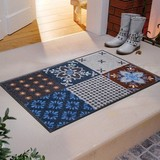 Entrance Accent Mat Traditional Portugal Tile Scandinavian color Gray