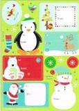 THE GIFT WRAP COMPANY ラベルステッカー(シール) クリスマス <ペンギン×スノーマン>