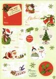 THE GIFT WRAP COMPANY ラベルステッカー(シール) クリスマス <サンタ×スノーマン>