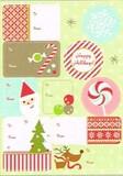 THE GIFT WRAP COMPANY ラベルステッカー(シール) クリスマス <サンタ×トナカイ>