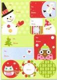 THE GIFT WRAP COMPANY ラベルステッカー(シール) クリスマス <サンタ×フクロウ>