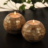 Shell Candle Holder 2 Colors Asia Miscellaneous goods