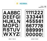 HERMA ラベル 15mm 黒字 シール アルファベット 数字 スクール