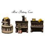 ポタリー ミニ ケース  [ピアノ 猫]