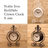 【SALE】【置時計】ノーブルアイアン[ボースサイド クラウンクロック (S)]