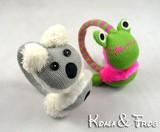 ■イヤーマフ■Koala &Frogコアラ、かえるちゃん耳あて!サイズ調節可、子供から大人まで対応!