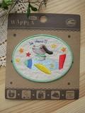 【入園入学】刺繍ワッペン*アイロン*楕円親子ドッグロケット