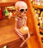 玄関先であなたの帰りを待っていたのは・・・!!【スケルトン玉ライト】