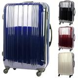 【直送可】TSAロック拡張ダブルファスナー機能付4輪トラベルスーツケース<4色3サイズ>