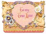 PUNCH STUDIO バレンタインスモールグリーティングカード(3Dレイヤー) <天使×ハート>