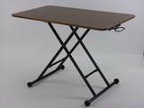 【直送可】ウォールナット突き板のガス圧タイプのリフティングテーブル:完成品