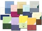 【G.ラロ】【7色展開】ヴェルジェ・ド・フランス 封筒便箋セット(カマス貼)