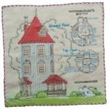 ムーミンミニタオル(ムーミン谷の地図&ムーミンの家)
