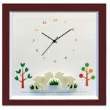 小さめサイズが人気のインテリア時計♪DECLOCK/Animal/ヤギ