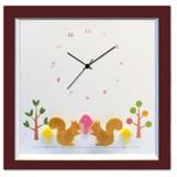 小さめサイズが人気のインテリア時計♪DECLOCK/Animal/リス