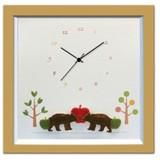 小さめサイズが人気のインテリア時計♪DECLOCK/Animal/クマ